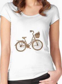Retro bicycle Women's Fitted Scoop T-Shirt