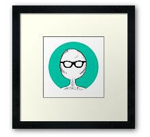 Nerd Skeleton Framed Print