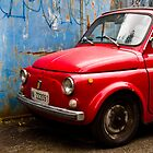 Vintage and rustic little red car by ShanneOng