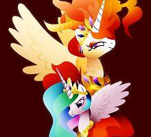 Princess Celestia and Nightmare Star by TornadoTwist