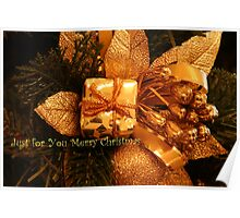 """Just for You """"Merry Christmas"""" Poster"""