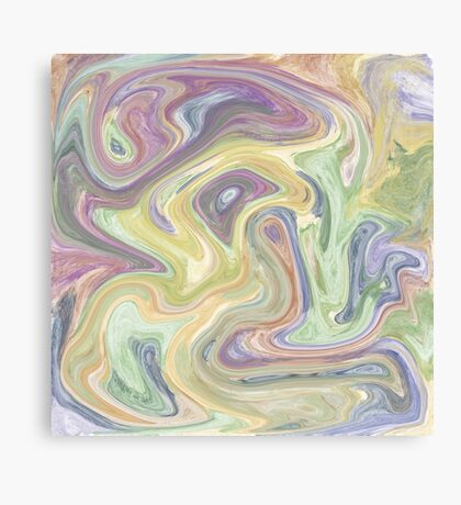 Pastel Swirl Mixture Canvas Print