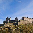 Edinburgh Castle on a rare sunny day!! by Claire Tennant