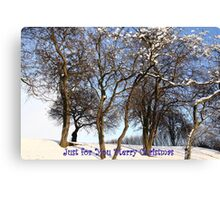 Just for You Merry Christmas Canvas Print