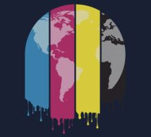 4 Colors Paint Our World Kids Tee