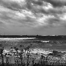 Storm at Peterhead by Lindamell