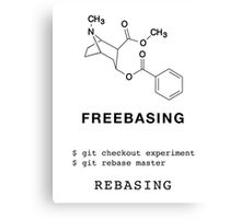 Freebasing VS Rebasing Canvas Print