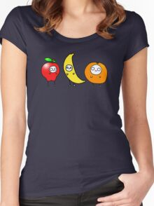Yummy Fruit Friends Women's Fitted Scoop T-Shirt