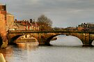 Late Afternoon Light on the Ouse Bridge, York by Christine Smith