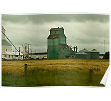 Abandoned Grain Elevator, Alberta Poster
