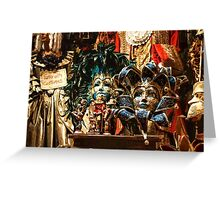 Impressions of Venice - Carnival Masks Display Greeting Card