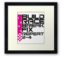 The Race Life Framed Print