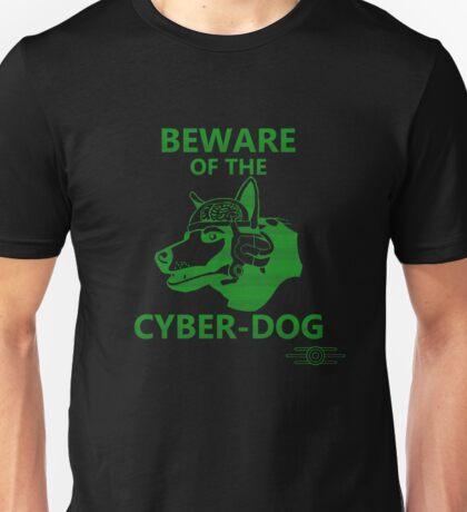 Beware of the Cyber-dog Capital Wasteland Green Unisex T-Shirt