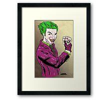 the joker,  Framed Print