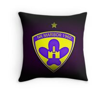 NK MARIBOR (black with the violet glow) Throw Pillow