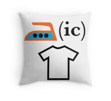 Ironic T Shirt Throw Pillow