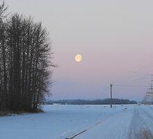 Moonset over the Prairies, Alberta by ArianaMurphy