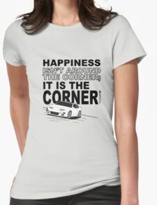 Happiness is the Corner Womens Fitted T-Shirt