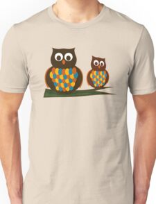 Owls on a Branch Unisex T-Shirt
