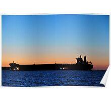 Ships of Port Hedland Harbour Poster