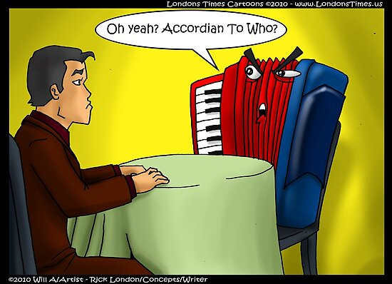 Accordion Dating by Londons Times Cartoon by Rick  London