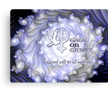 Good Will to All Women Card Canvas Print