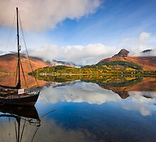 Scotland: Loch Leven Reflections by Angie Latham
