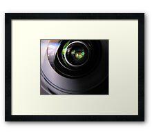lens to lens Framed Print