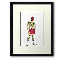 rude deadpool present Framed Print