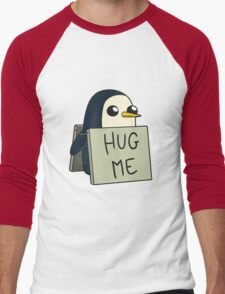 Adventure Time - Hug Me Penguin Men's Baseball ¾ T-Shirt