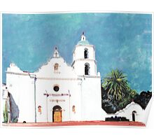 Mission San Luis Rey de Francia Oceanside California Picture Poster