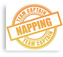 Napping Team Captain Canvas Print