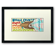 Concrete Surfing Long Beach Southern California Framed Print