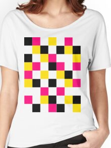 Blocks - Pink Women's Relaxed Fit T-Shirt
