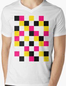 Blocks - Pink Mens V-Neck T-Shirt