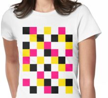 Blocks - Pink Womens Fitted T-Shirt