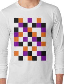 Blocks - Purple Long Sleeve T-Shirt
