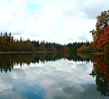 Fall Reflections at Deep Lake by skreklow