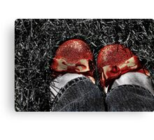 The slippers -- yes, the slippers! Canvas Print
