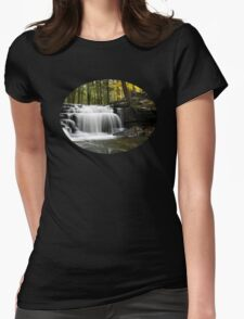 Serenity Waterfalls Landscape Womens Fitted T-Shirt