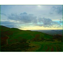 The Green Hills of Autumn Photographic Print