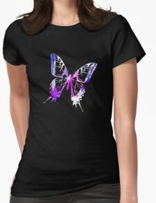 Purple Abstract Paint Pattern Womens Fitted T-Shirt