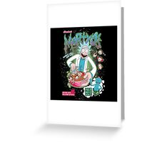 Mortyo's Spacey Cereals Greeting Card
