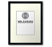 MR FUSION | Back to the Future Framed Print