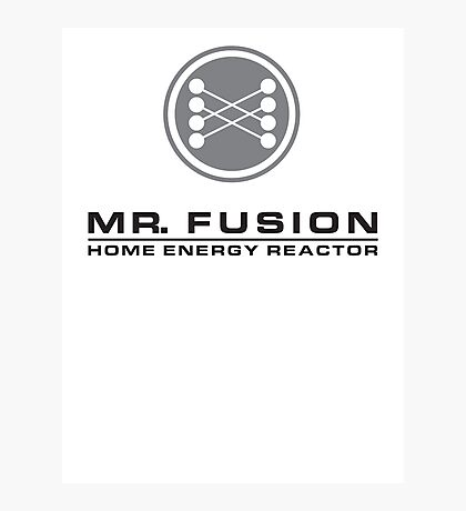 MR FUSION | Back to the Future Photographic Print