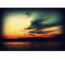 I envy people who can just look at a sunset Photographic Print