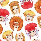 Four Faces of Toyah by marksatchwillart