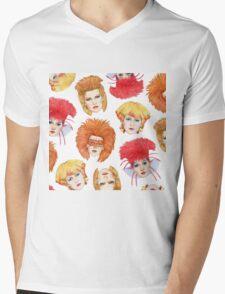 Four Faces of Toyah Mens V-Neck T-Shirt