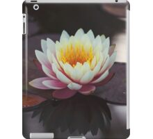 Lily on mirror pond iPad Case/Skin