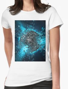 Disco planet explosion Womens Fitted T-Shirt